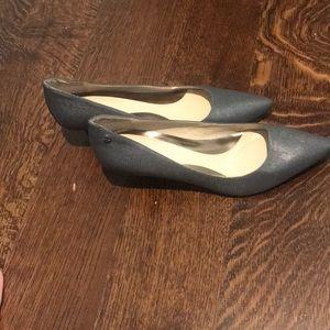 Calvin Klein grey kitten heels